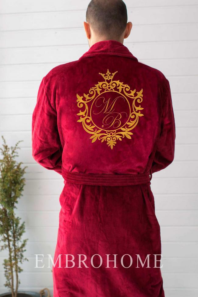 Іменний халат великого розміру з індивідуальною вишивкою