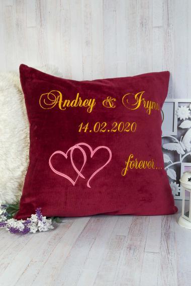 Подушка подарочная на свадьбу или годовщину