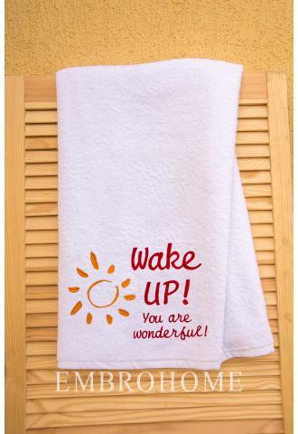 Полотенце с индивидуальной надписью на заказ