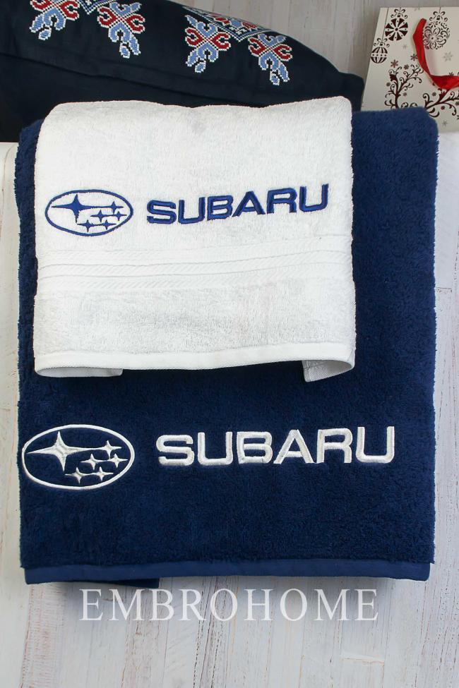 Набор полотенец с вышитым логотипом автомобиля от производителя ТМ Эмброхоум